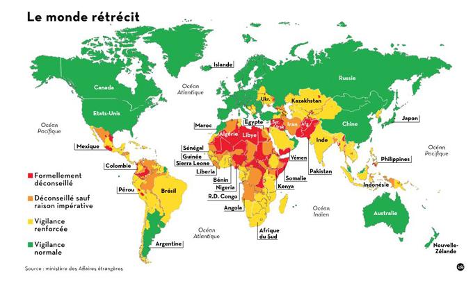 carte pays risque