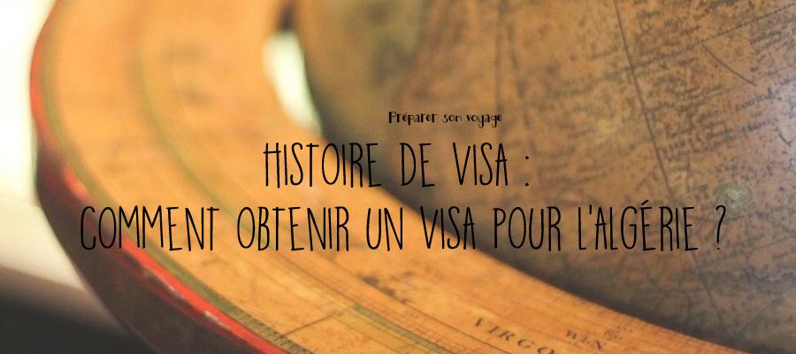 visa touristique pour l'Algérie