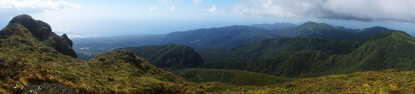 Panorama sommet de la soufrière