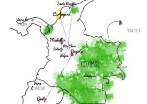 itinéraire en Colombie