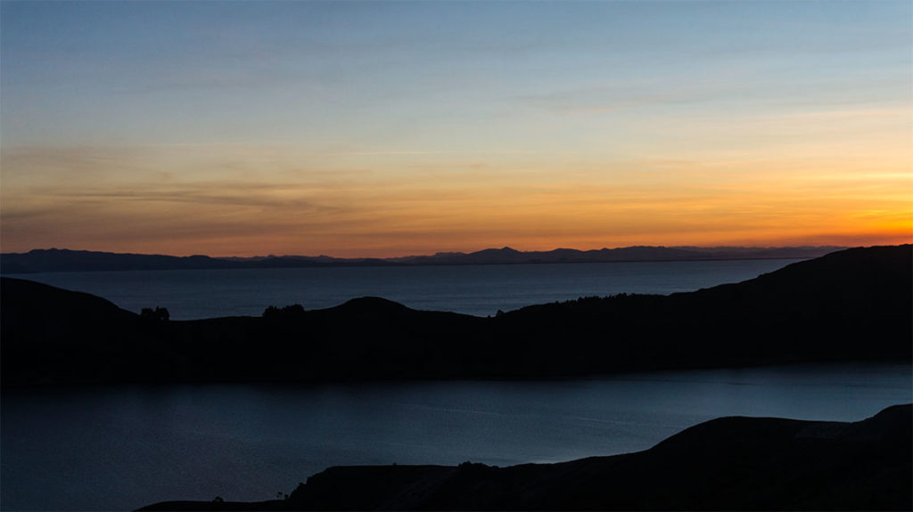 défi-photo n°3 : couché de soleil sur l'isla del sol, lac Titicaca