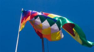 drapeaux de la place murillo, La Paz, Bolivie