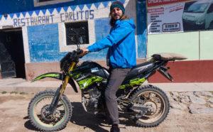 Arnaud sur une moto