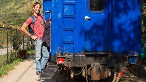 arnaud sur le train du machu picchu