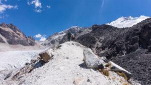 randonnée vers le camp alto du huayna potosi