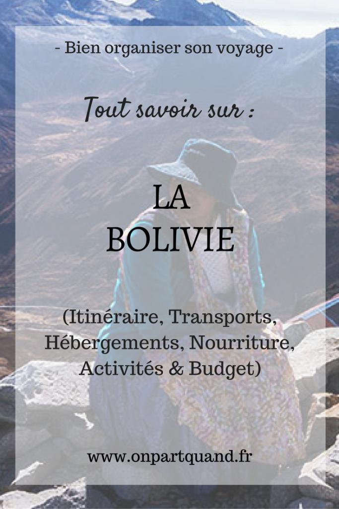 budget voyage Bolivie