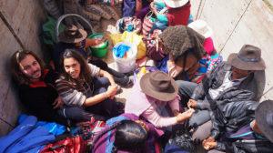 Dans un camion avec taureaux en Bolivie