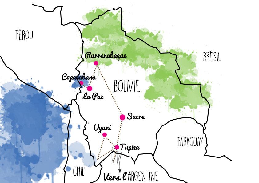 itinéraire voyage bolivie