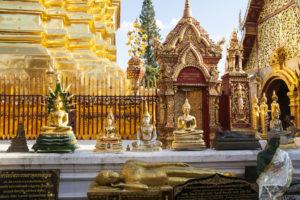 Les bouddhas au Doi Suthep