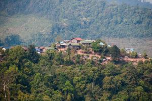 village akkha dans le nord du Laos