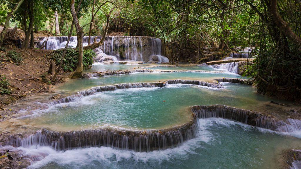 cascade de Kuang Si - Kuang si Waterfall