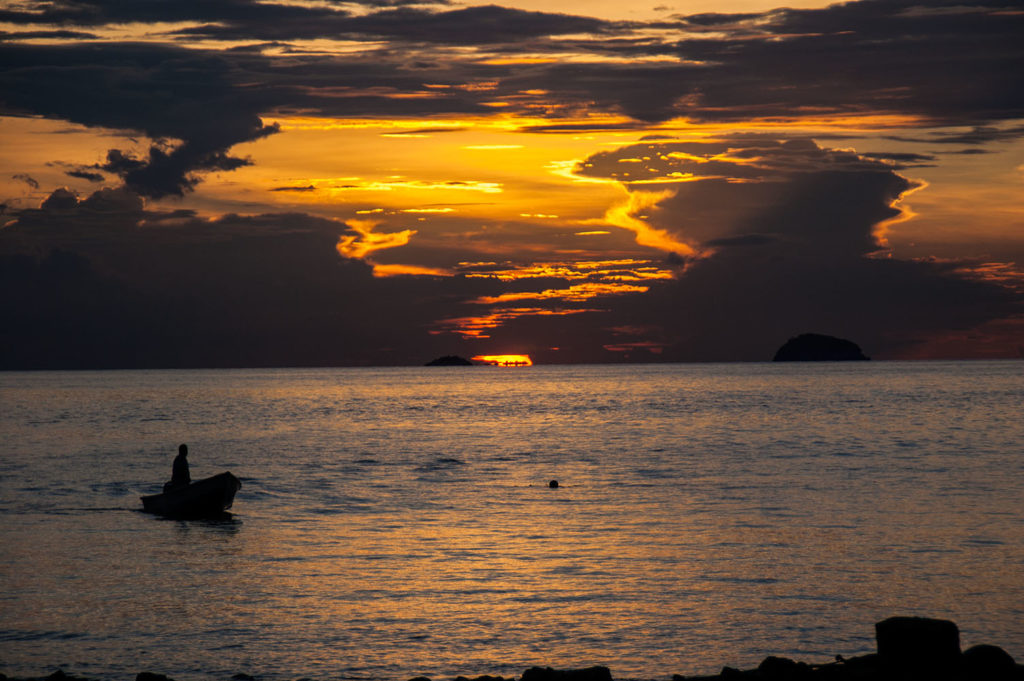 sunset tioman island